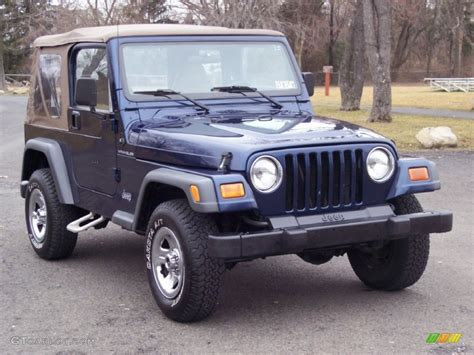 2001 patriot blue pearl jeep wrangler se 4x4 61966643 photo 3 gtcarlot car color galleries
