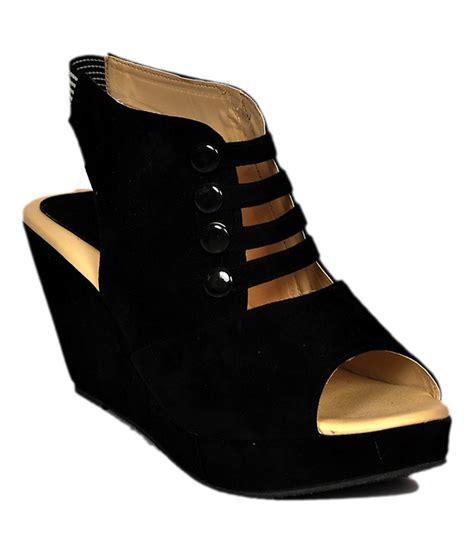 black comfortable heels stylish step black comfortable medium heel wedges price in