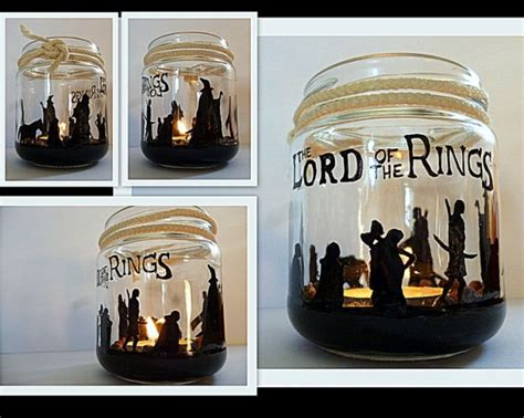 paint jar to diy candle holder lord of the rings crafts