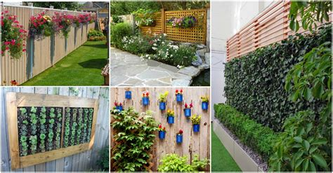 how to decorate a small backyard how to decorate your garden fence with some beautiful planters