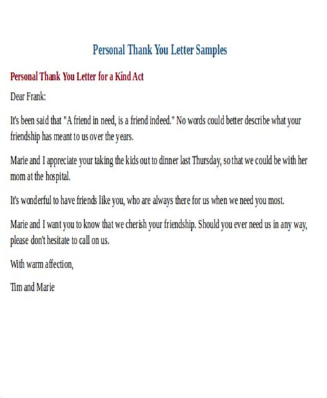 Thank You Letter Format Formal 25 sle thank you letter formats