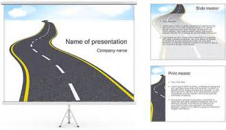 road template road powerpoint template backgrounds id 0000001392