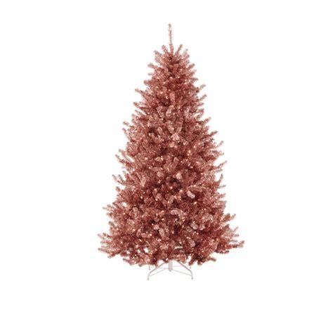martha stewart christmas lights martha stewart living 7 5 ft pre lit sterling tinsel pink