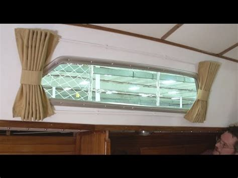 boat window curtains how to make boat interior curtains youtube