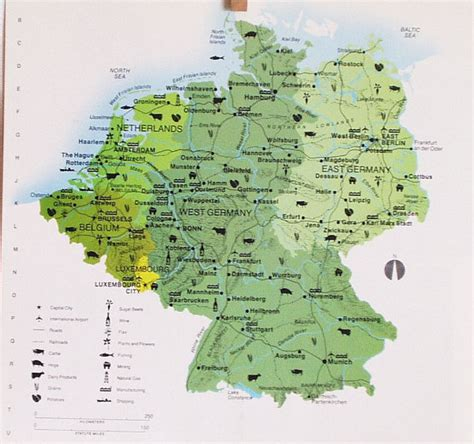 map east germany west germany vintage map west germany east germany map book by