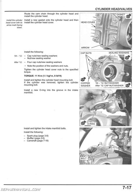 2004 2017 honda crf50f motorcycle service manual