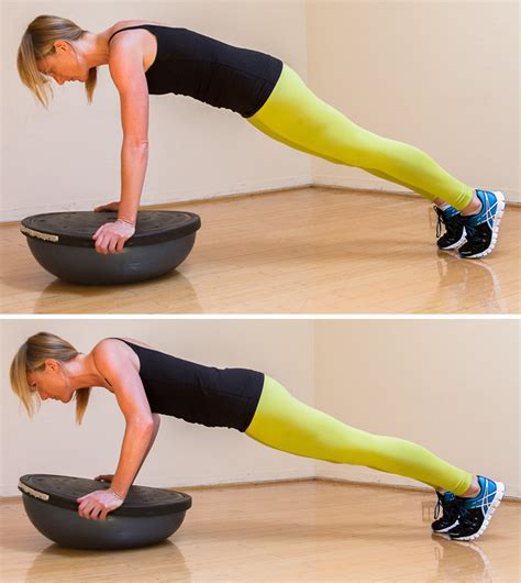 7 Great Bosu Exercises by Bosu Circuit Workout Popsugar Fitness