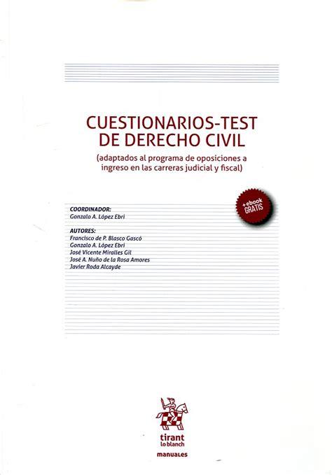 test de oposiciones atelier libros jur 237 dicos cuestionarios test de derecho