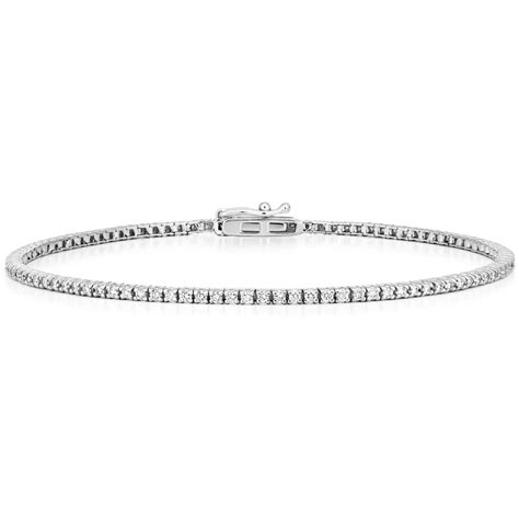 1 Ct Tw Tennis Bracelet 18k white gold tennis bracelet 1 ct tw