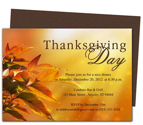 Thanksgiving Day Invitation Templates Happy Easter Thanksgiving 2018 Thanksgiving Invitation Template Word