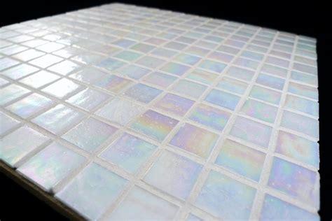 Smart Tiles Kitchen Backsplash white iridescent mosaic glass tile for kitchen amp bath ebay