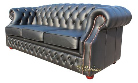 3 seater leather chesterfield sofa chesterfield buckingham 3 seater black leather sofa offer