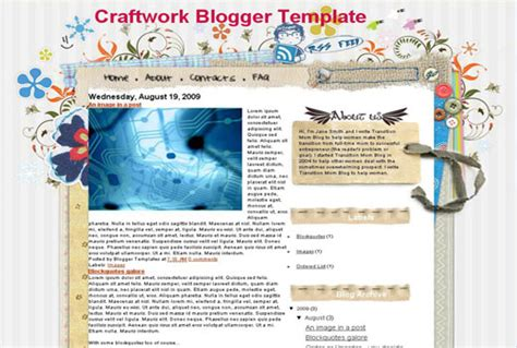romantic templates for blogger craft work one a nice template free blog for blogger
