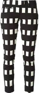 black and white pattern pants outfit dondup check pattern slim fit trousers where to buy