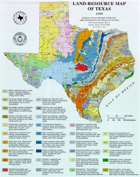 texas landform map geology links