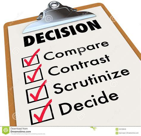 Background Check Price Comparison Decision Checklist Clipboard Compare Contrast Choose Options Stock Illustration