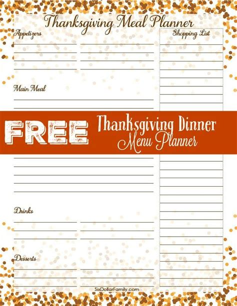 printable thanksgiving meal planner 1000 ideas about dinner menu on pinterest thanksgiving