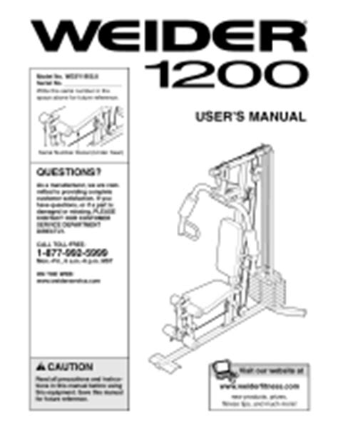 weider 1200 home manual workout everydayentropy