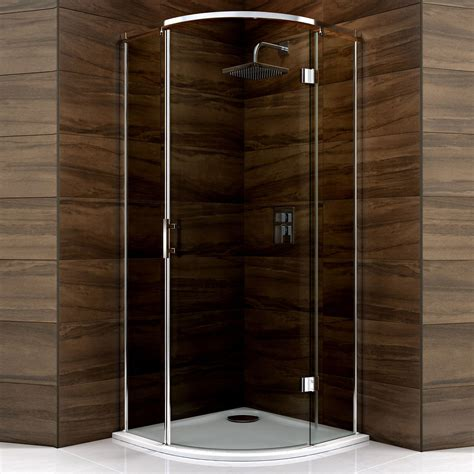 Smoked Glass Shower Doors Cooke Lewis Cascata Quadrant Hinged Shower Enclosure Tray Waste With Hinged Door Smoked