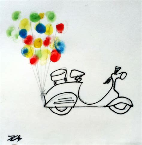 doodle vespa the vespa balloon doodle the coping copying doodler