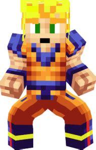 imagenes de goku en minecraft goku minecraft