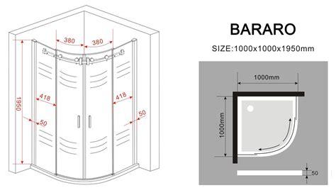 Schiebetür 100 Cm by Duschkabine Bararo 100 X 100 X 195 Cm Viertelkreis Ohne