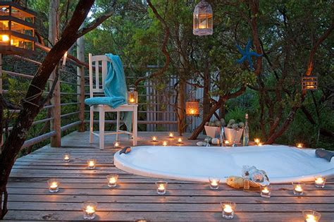 big blue backyard beach hideaway outdoor spa bath on you