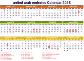 United Arab Emirates Uae Calendã 2018 Eid Mubarak Holidays List