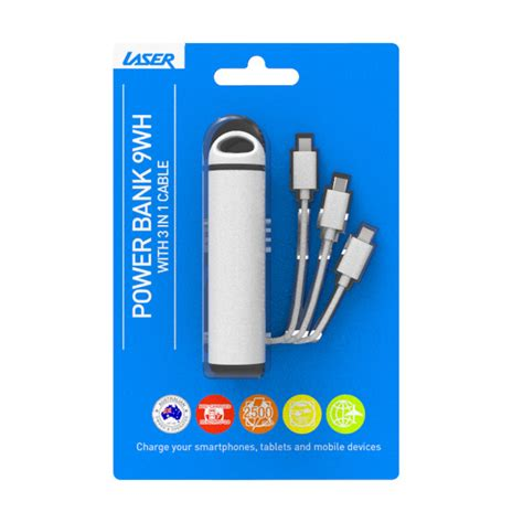 Powerbank Usb Kabel Power Bank Pb 500mah Sele Terus power banks everyday 2500 mah power bank with 3 in 1 cable white