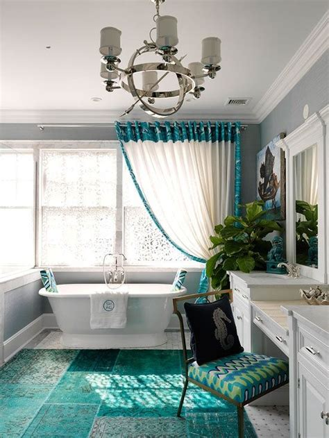 Teal And White Bathroom by Teal And White Bathroom Home