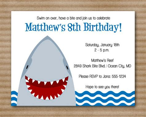 shark birthday card template 12 mind blowing shark birthday invitations