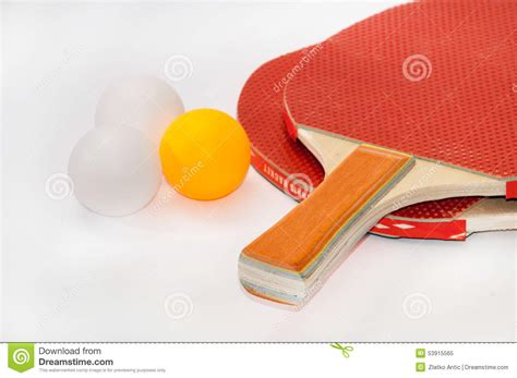 ping pong rackets with balls stock photo image 53915565