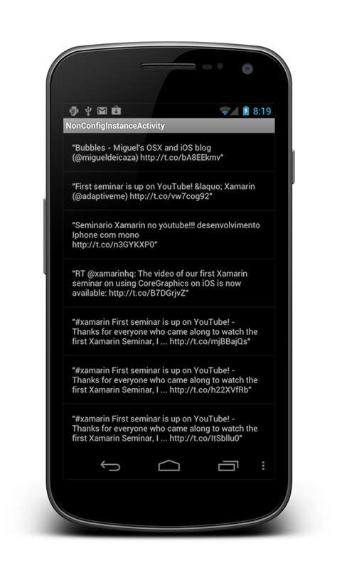 android runonuithread activity lifecycle xamarin