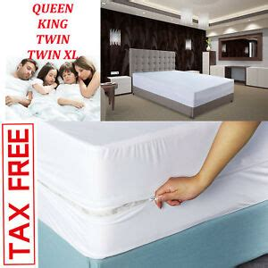 mattress cover zippered bed bug protector box spring encasement mites queen king ebay