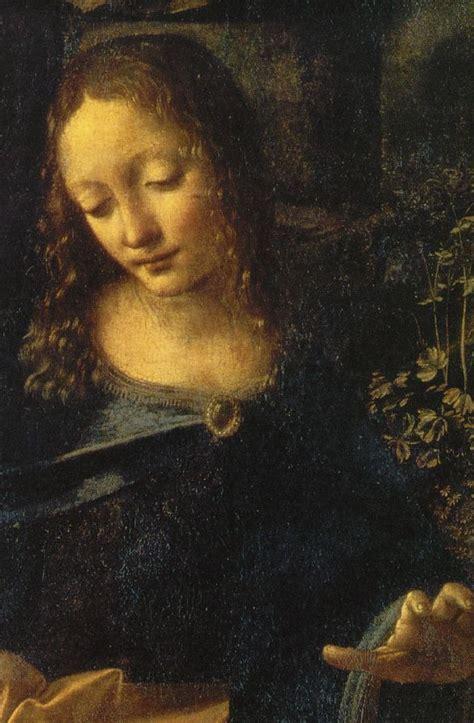 2 Paintings Of Leonardo Da Vinci leonardo da vinci vergine delle rocce detail ii