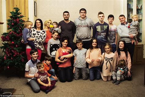 full house christmas christmas day with the radfords of lancashire britain s biggest family daily mail