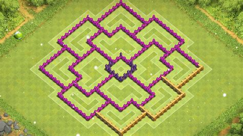 coc layout th8 anti loot best th8 farming base protect loot clash of clans