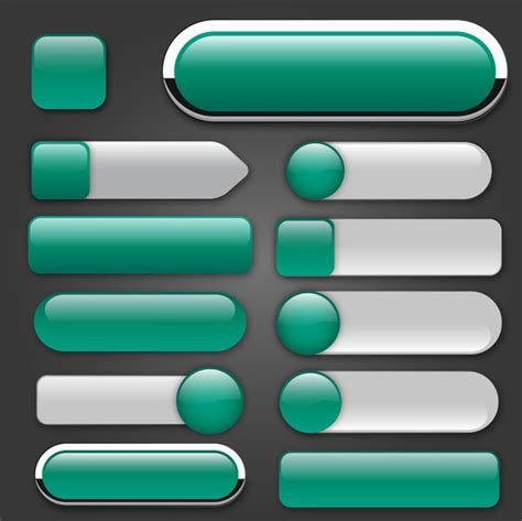 html format link as button webpage various buttons sets on green classical style free