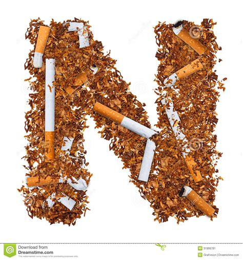 up letter to cigarettes letter n stock image image of printed symbol cigarette