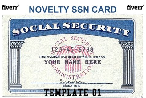 Social Security Card Template For Sale by Make A Novelty Social Security Card Fiverr