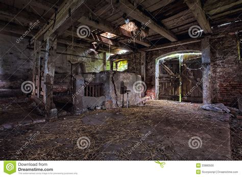 Farm House Floor Plans interior of an old decaying barn stock photo image