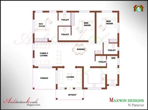 kerala style 3 bedroom house plans fantastic 3 bed room 1500 square feet house plan