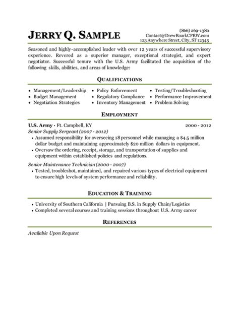 military transition resume resume pinterest military