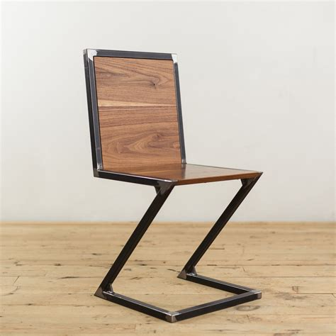 modern steel furniture walnut and steel z chair factor fabrication