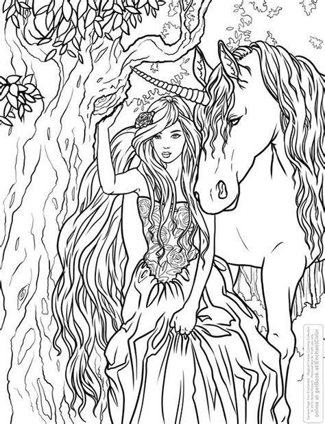 fairy unicorn coloring page 195 best fairies unicorn coloring pages images on