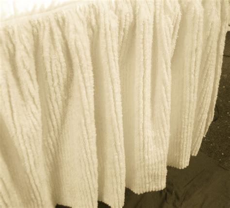 ivory bed skirt ivory beige chenille bedskirt in twin full queen