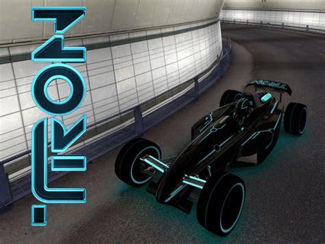 trackmania carpark  skins tron legacy car blue