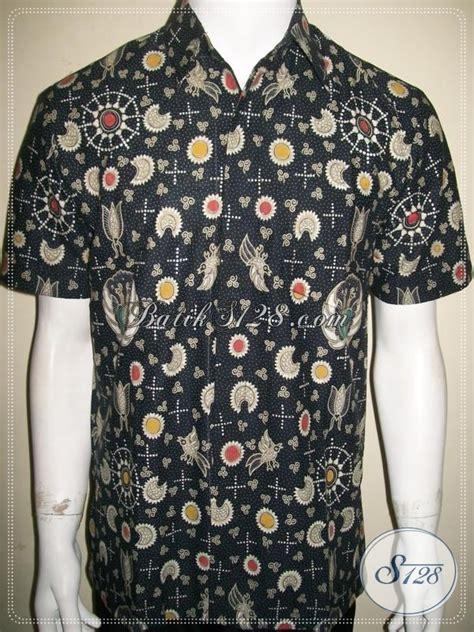 Gfp Kemeja Pria Terbaru Lengan Pendek Katun Hitam Sht 795 kemeja batik pria klasik modern warna hitam lengan pendek