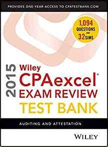 wiley cpaexcel review 2018 test bank auditing and attestation 1 year access books wiley cpaexcel review 2015 test bank auditing and