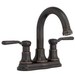 kohler rubbed bronze kitchen faucet kohler worth 4 in centerset 2 handle bathroom faucet in rubbed bronze r76256 4d 2bz the